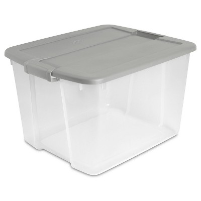 66qt Latching Utility Storage Tub Gray - Room Essentials™