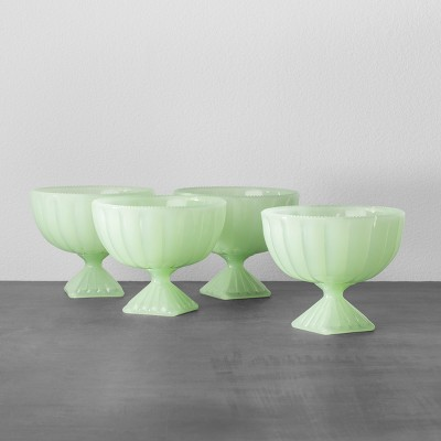 4pk Pedestal Dessert Bowl Green - Hearth & Hand™ with Magnolia