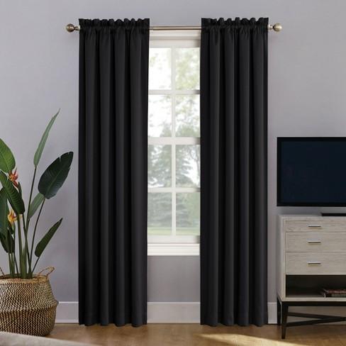 Oslo Rod Pocket 100% Blackout Window Curtain Panels - Sun Zero - image 1 of 4
