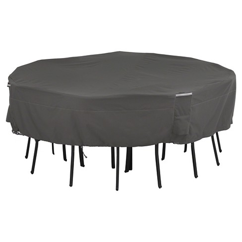 Ravenna Square Patio Table And Chair Set Cover Medium/Large - Dark Taupe - Classic Accessories - image 1 of 4