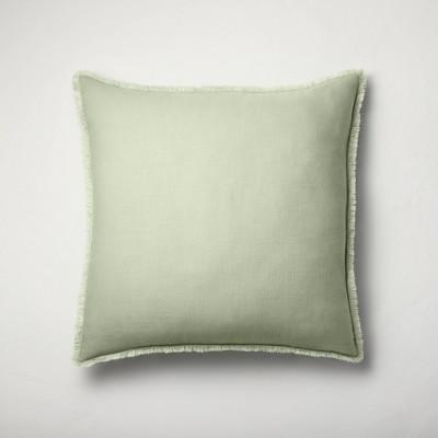 Euro Heavyweight Linen Blend Throw Pillow Sage Green - Casaluna™