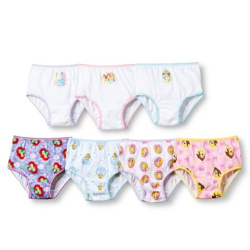 8d617e2a19f2f Toddler Girls' Disney Princess 7 Pack Underwear : Target