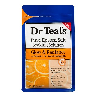 Dr Teal's Glow and Radiance Epsom Bath Soaks - 48oz