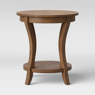 Shelburne Round Wood Accent Table Natural - Threshold™