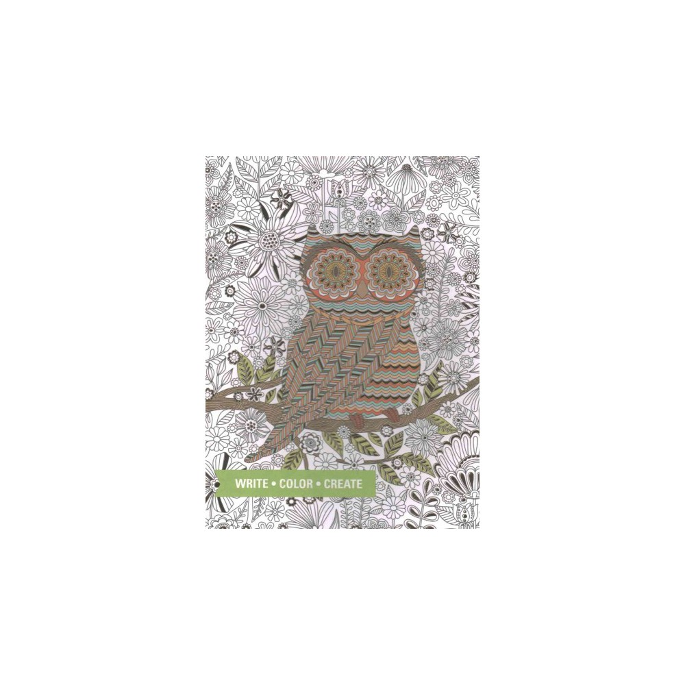 Owl Coloring Journal (Hardcover)