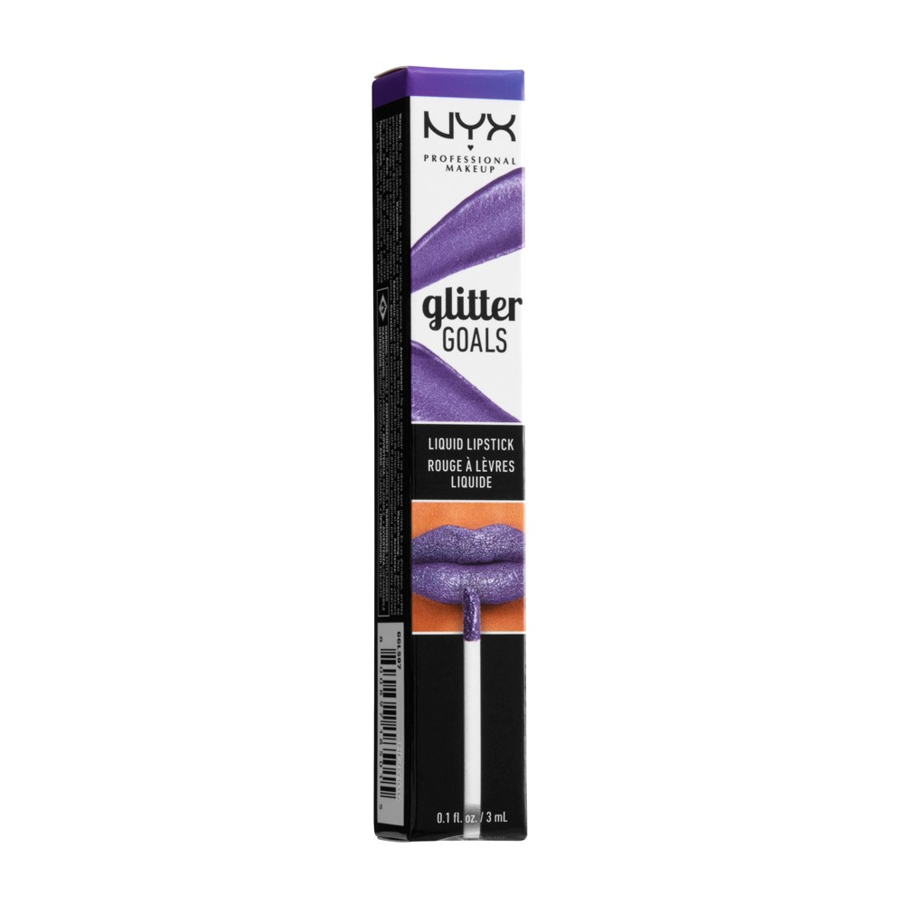 Image of NYX Professional Makeup Glitter Goals Liquid Lipstick Amethyst Vibes - 0.1 fl oz, Purple Vibes