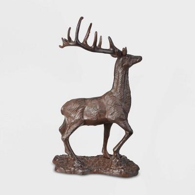 """12"""" Cast Iron Deer Brown - Esschert Design"""