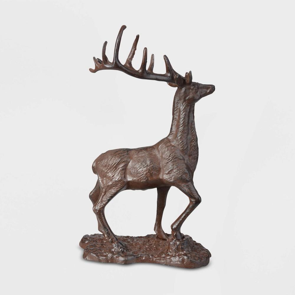 """Image of """"12"""""""" Cast Iron Deer Brown - Esschert Design"""""""