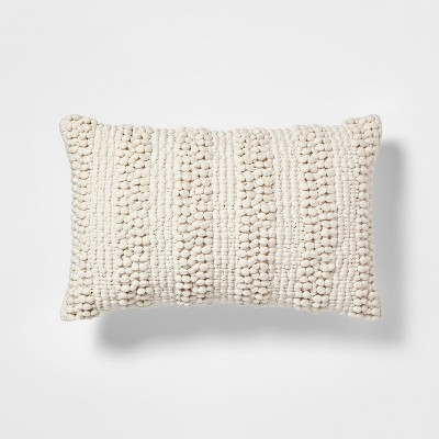 Textured Pom Lumbar Pillow Cream + Nate Berkus - Project 62™