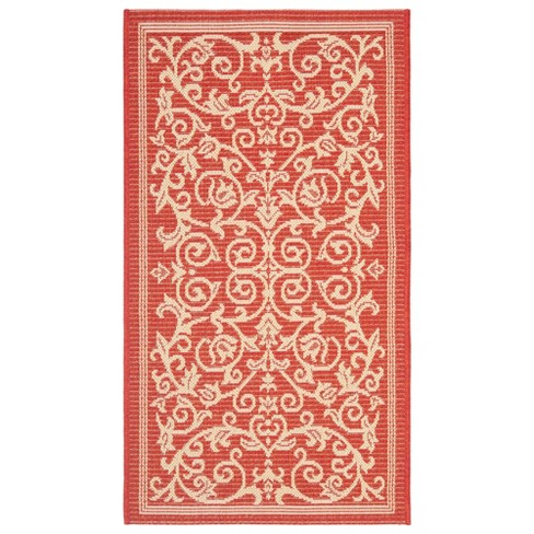 "Vaucluse Rectangle 2' X 3'7"" Outdoor Rug - Red / Natural - Safavieh® - image 1 of 1"