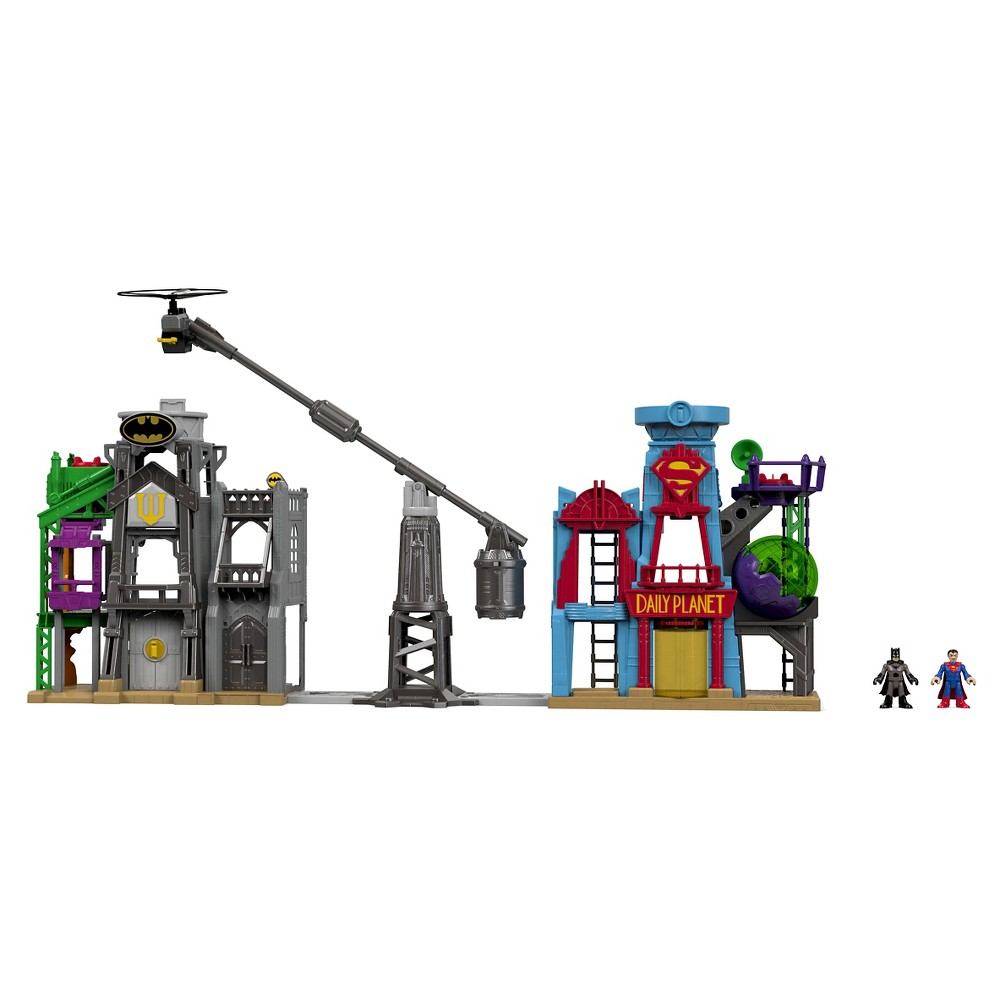 Fisher-Price Imaginext DC Super Friends Super Hero Flight City Playset, Multi-Colored