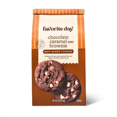 Soft Baked Chocolate Caramel Flavored Brownie Cookie - 8oz - Favorite Day™