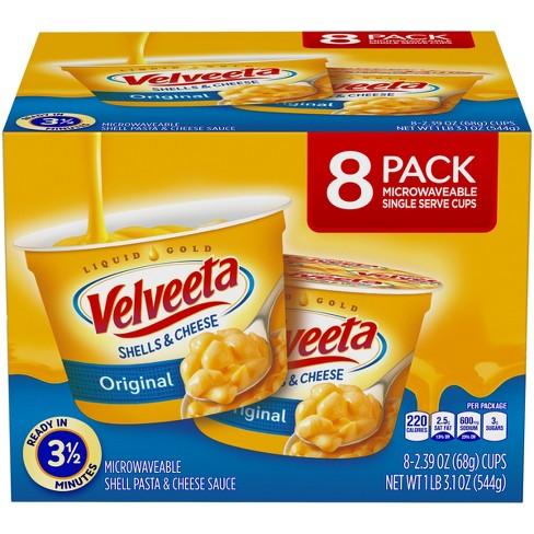Velveeta Shells & Cheese Original Single Server Microwave Cups - 8pk - image 1 of 3