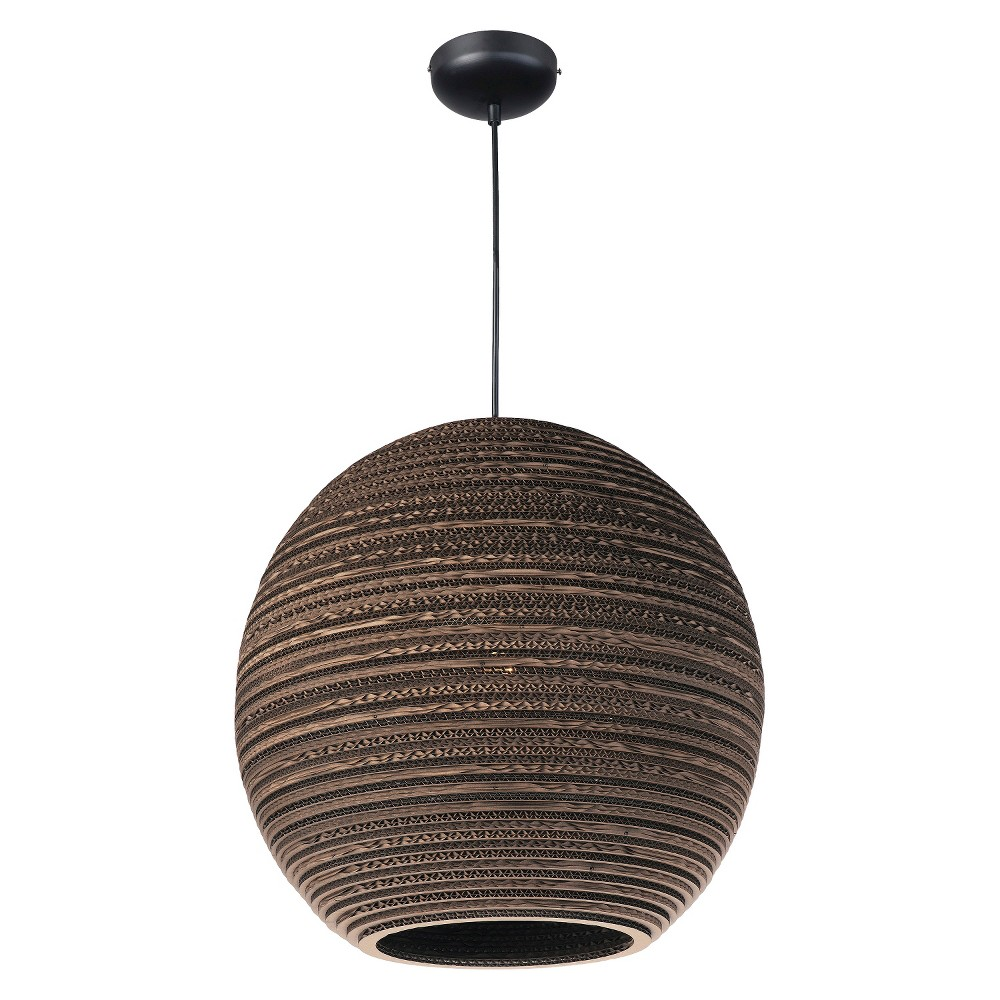 Image of Maxim Java 1-Light Pendant Brown