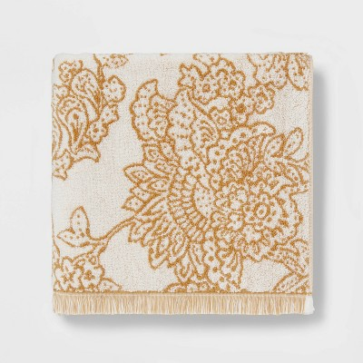 Traditional Floral Bath Towel Yellow - Threshold™