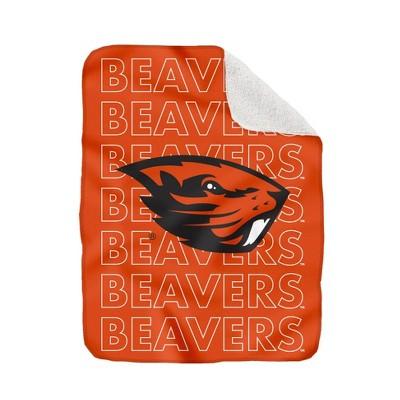 NCAA Oregon State Beavers Collegiate Echo Wordmark Plush Throw Blanket