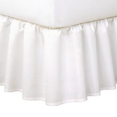 White Ruffled 14  Bed Skirt (Twin)