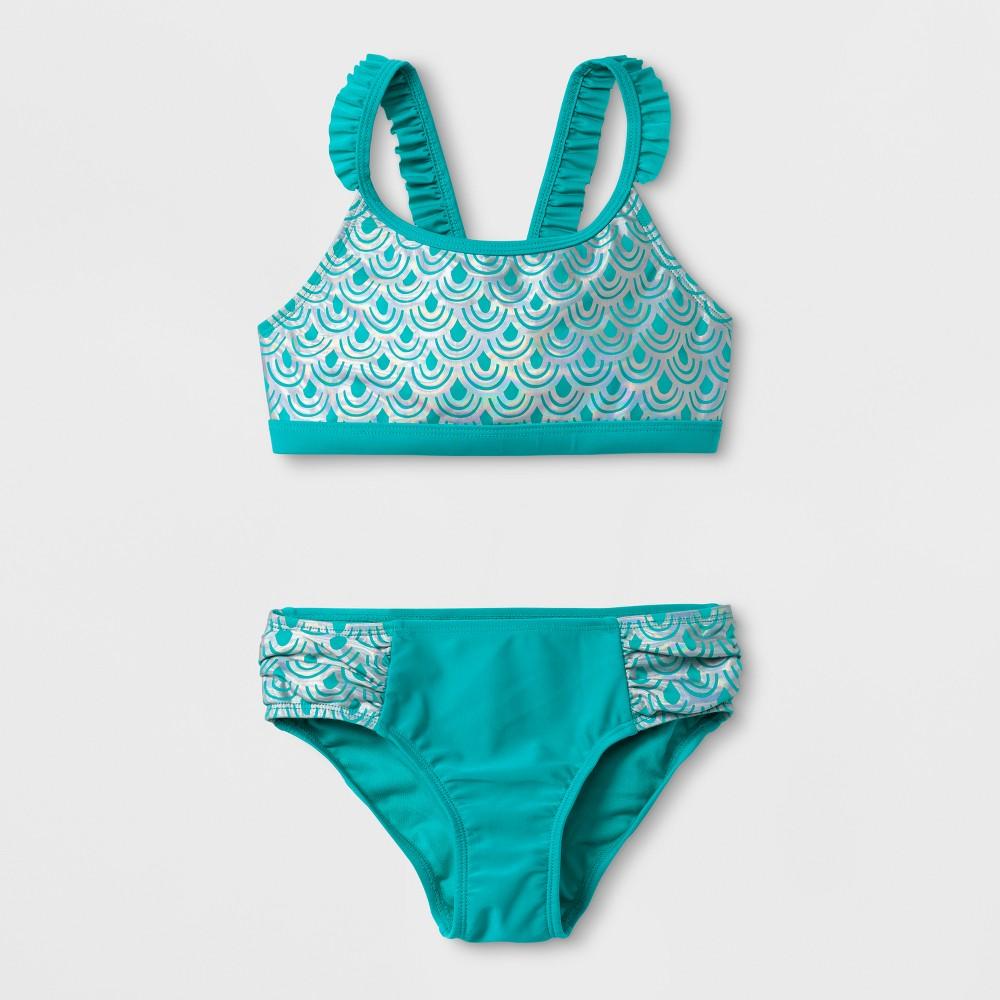 Girls' Mermaid Bikini Set - Cat & Jack Turquoise L