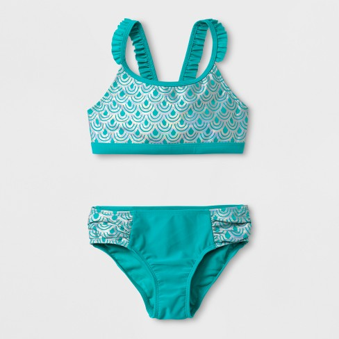 fe5f4059d69 Girls' Mermaid Bikini Set - Cat & Jack™