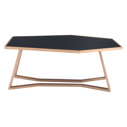 Modern Coffee Table Black Gold Zm Home Target