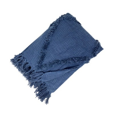 "Farmhouse Living Rustic Vogue Aspen Diamond Tufted Fringe Blanket Throw - 50"" x 60"" - Elrene Home Fashions"