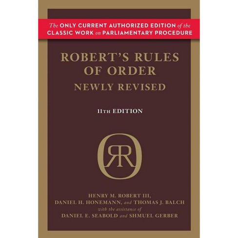Robert's Rules of Order (Newly Revised, 11th Edition) - (Robert's Rules of Order (Hardcover)) - image 1 of 1