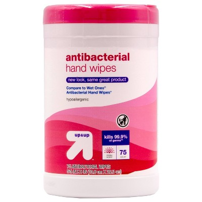 Fresh Scent Antibacterial Moist Wipes - 75ct - Up&Up™ (Compare to Wet Ones® Antibacterial Hand Wipes)