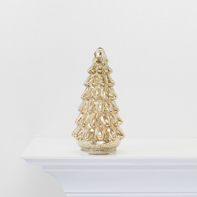 Small Mercury Glass Christmas Tree Gold - Wondershop™