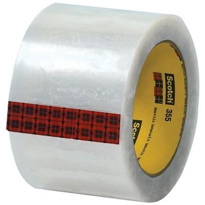 "Scotch 3M 355 Carton Sealing Tape 3.5 Mil 3"" x 55 yds. Clear 6/Case T9053556PK"