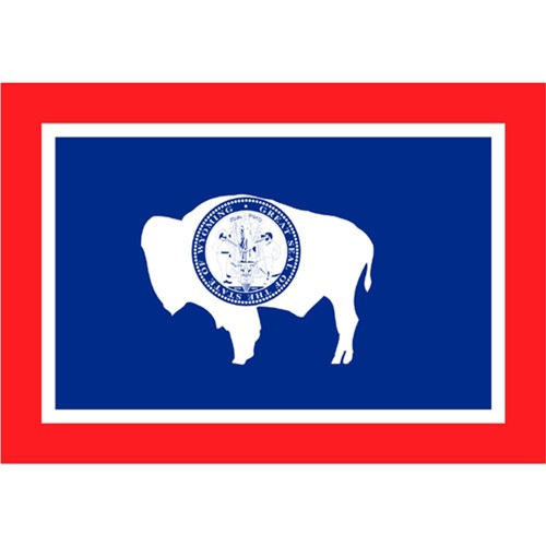 Halloween Wyoming State Flag - 4' x 6'