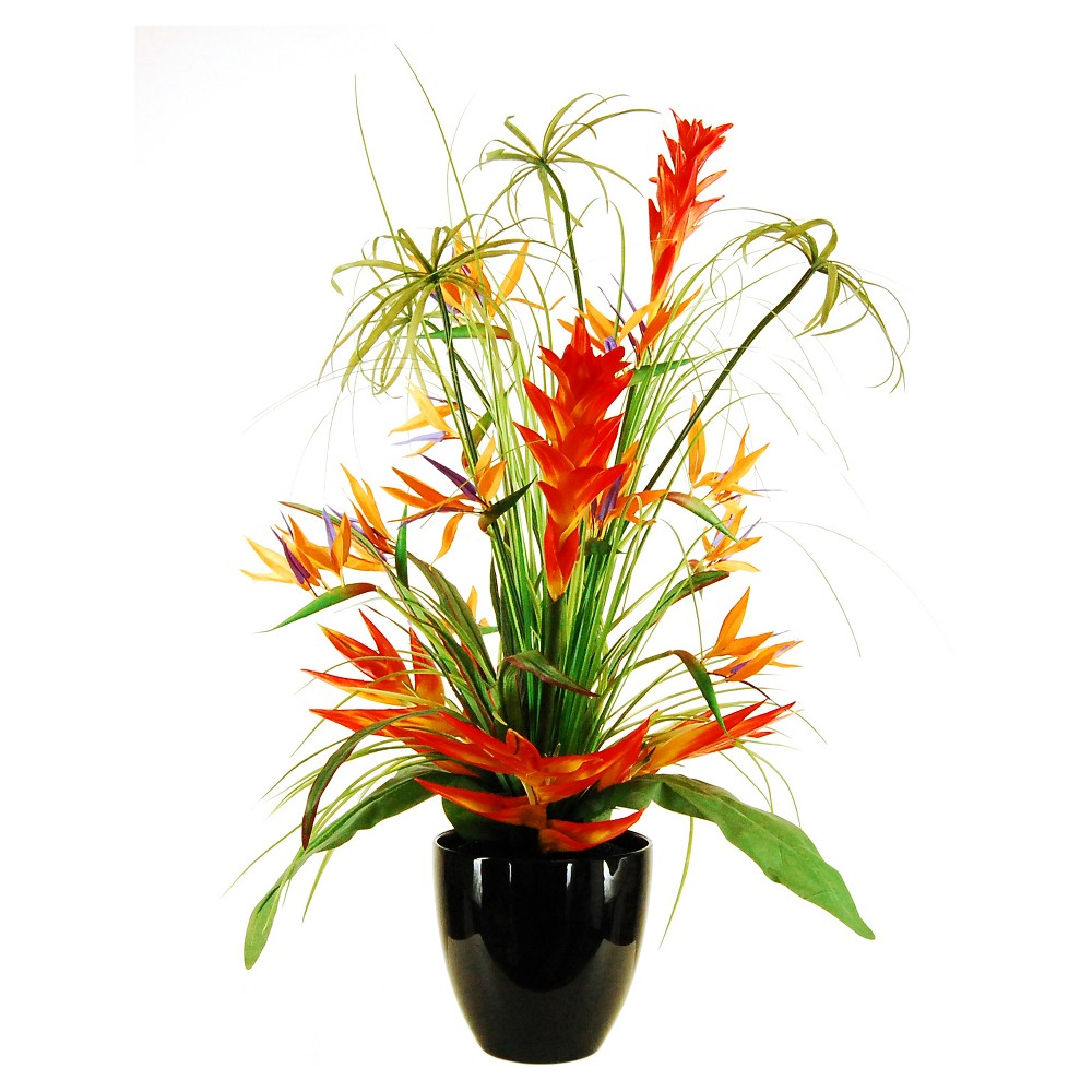 """Image of """"Artificial Mixed Floral Arrangement Red/Yellow 34"""""""" - LCG Florals"""""""