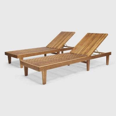 2pk Nadine Wooden Chaise Lounge - Christopher Knight Home