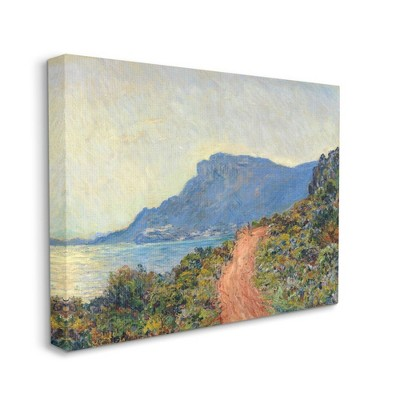 Stupell Industries Cliff Road Ocean Mountain Landscape Monet Classic Painting