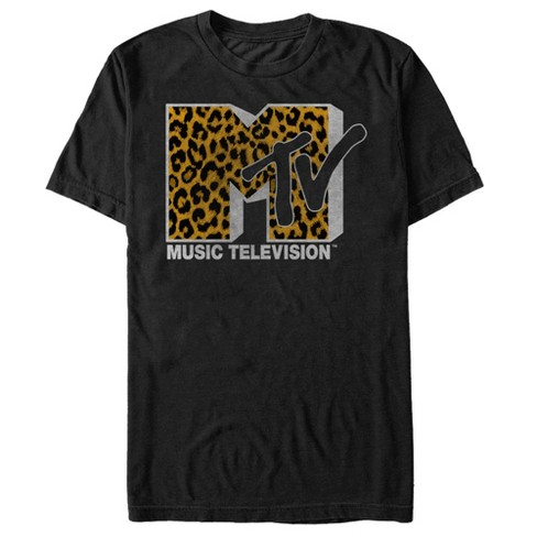 MTV Men's Cheetah Print Logo T-Shirt - image 1 of 1
