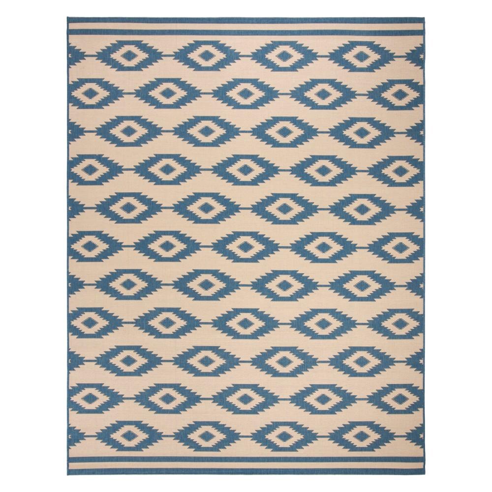 9'X12' Geometric Loomed Area Rug Blue/Cream (Blue/Ivory) - Safavieh