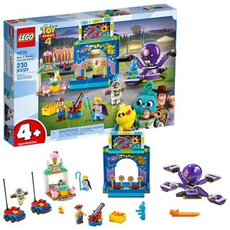 LEGO Disney Pixar's Buzz Lightyear & Woody's Colorful Carnival Mania Toy Story Building Playset 10770