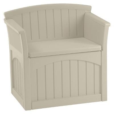 Resin Patio Storage Seat 31 Gallon - Taupe - Suncast