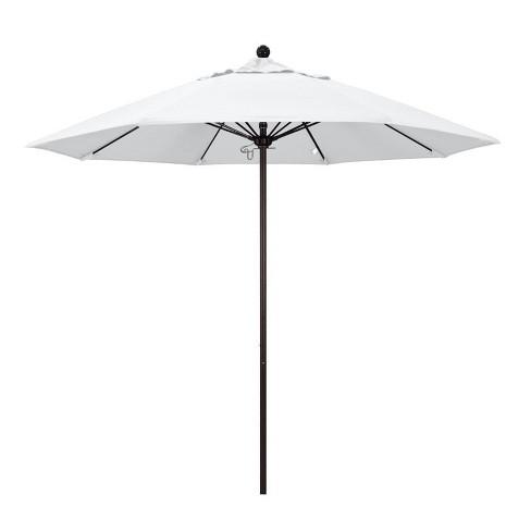 Venture 9' Bronze Market Umbrella in White - California Umbrella - image 1 of 1