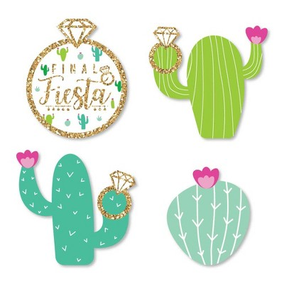 Big Dot of Happiness Final Fiesta - Diy Shaped Last Fiesta Bachelorette Party Cut-Outs - 24 Count