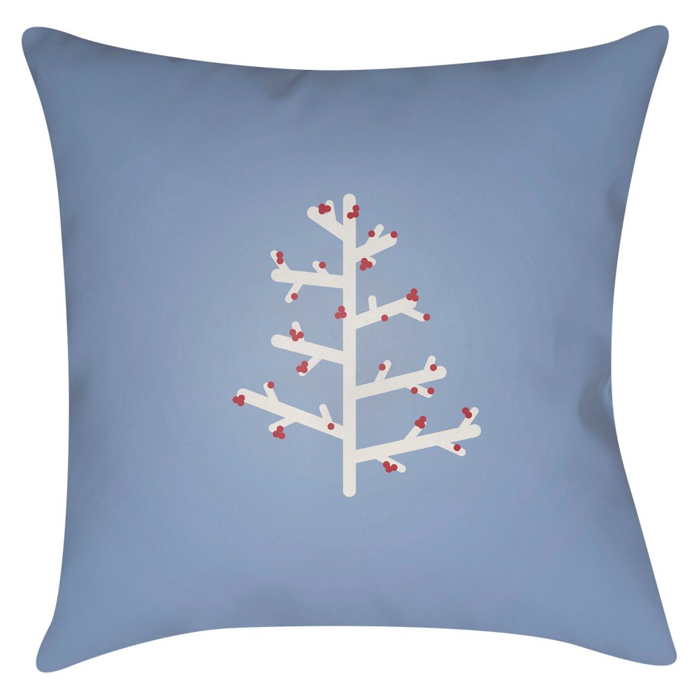 Blue Charlie Tree Throw Pillow 20