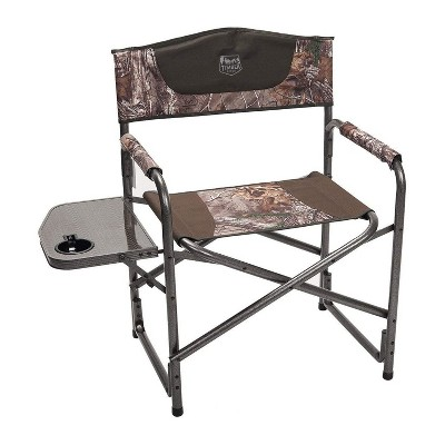Timber Ridge Indoor Outdoor Portable Lightweight Aluminum Frame Folding Camping Directors Chair with Side Table and Cup Holder