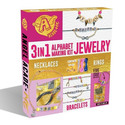 Anker Play 3 In 1 Alphabet Jewelry Making Kit   Includes 5 Premium Charms