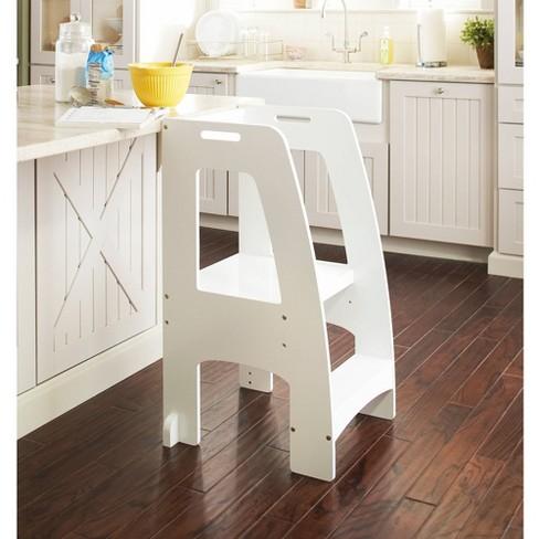 Kids' Step-Up Kitchen Helper White - Guidecraft - image 1 of 3