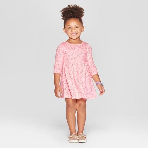 ce4ba934601 Toddler Girls  Heart All Over Print A-Line Dress - Cat   Jack™ Pink ...