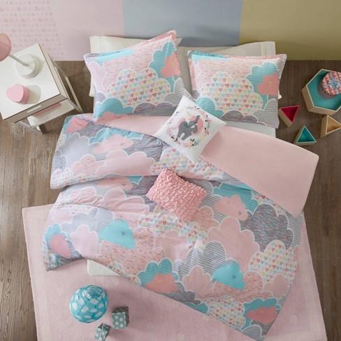 Full Queen Euphoria Cotton Duvet Cover Pink Target