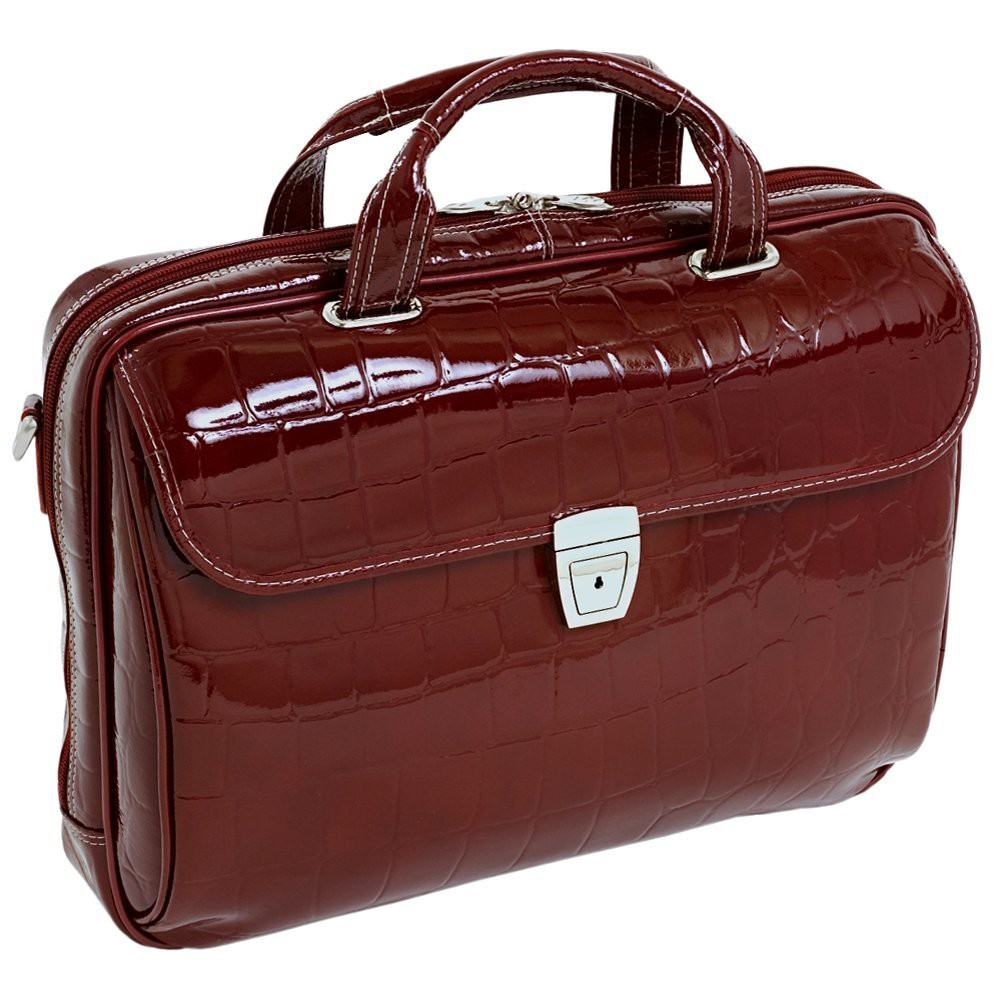Siamod Servano 13 Leather Tablet Briefcase (Cherry Red)
