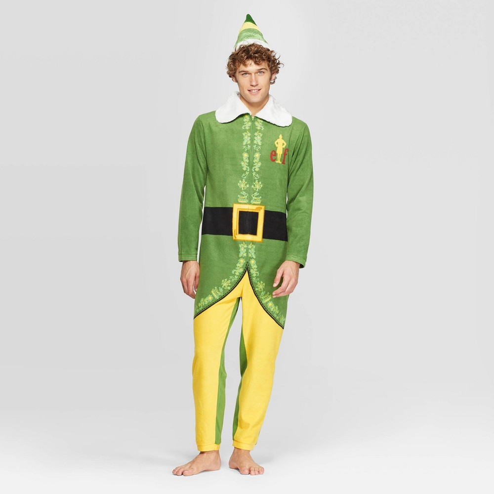 Image of Men's Buddy The Elf Union Suit - Green S, Size: Small