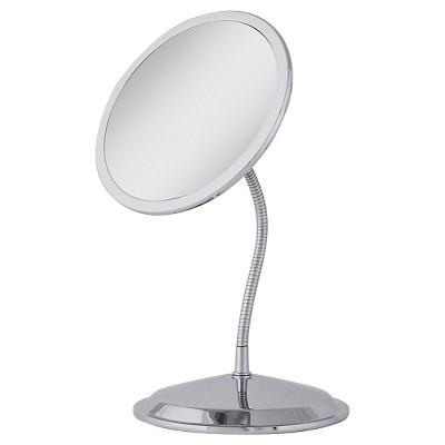 Zadro Double Vision Gooseneck Vanity/Wall-Mount Mirror 10X/5X