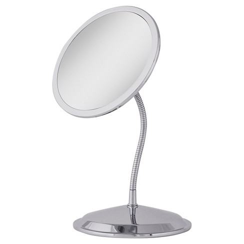 Zadro Double Vision Gooseneck Vanity Wall Mount Mirror