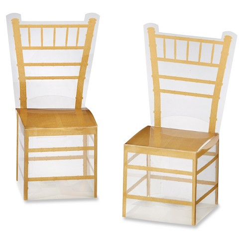 24ct Gold Chiavari Gold Chair Favor Box - image 1 of 2